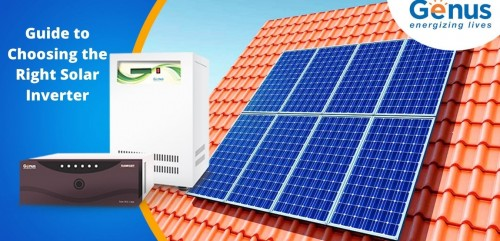 Summers are here and so is the need for a solar inverter for home use. Here's our guide to choosing the right solar inverter. https://www.genusinnovation.com/blogs/guide-to-choose-right-solar-inverter