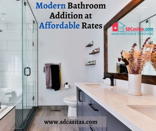 Renovating and making additions to the bathrooms is no more a stressful affair as now you can get the best quality services for this job without worrying to break your bank. Contact the team of SDCasiatas now to hire the most reliable bathroom addition contractor in the region in minutes. They employ modern means to make sure that you never have to compromise with the look and feel of your bathrooms while maintaining the aesthetic feel of your home.