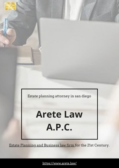 Find best Local Probate Attorneys in California! Click to discover how easy it is to connect with the services you need with Arete Law A.P.C.! Call on 619-693-6474 now!! https://www.arete.law/