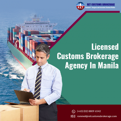 Find the best licensed customs brokerage agency in Manila Philippines? Call us RET Customs Brokerage on (+63) (02) 8809 6542 for the reliable shipping services at reasonable prices. Read More:- https://www.retcustomsbrokerage.com/  Contact Us:  Unit 227 Makati Executive Tower 3 Gil Puyat Ave Brgy Pio Del Pilar Makati City, Philippines 1230 Email: rommel@retcustomsbrokerage.com Ph: (+63) (02) 8809 6542