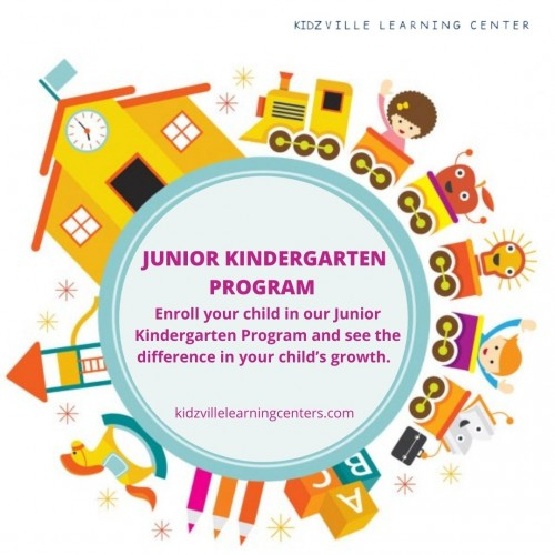 Junior Kindergarten is an early learning program for kids within a safe, secure, interactive and creative environment for developing listening and social skills which includes certain activities like dancing, singing, playing with curiosity and critical thinking. KidzVille Learning Center junior kindergarten in Surrey offers a unique blend of the early education program which is based on the philosophies of Reggio Emilia and Montessori methods for early childhood education where a child learns and grows in a stimulating environment that anticipates freedom and builds up their natural curiosity with the help of interesting learning materials and props. KidzVille Learning Center was established in September 2013 by Samiha Rehmtulla, who is an early childhood educator, a Montessori directress and a mother of 4 children possessing a great passion and love for the Kids. For more details visit the website: https://www.kidzvillelearningcenters.com/