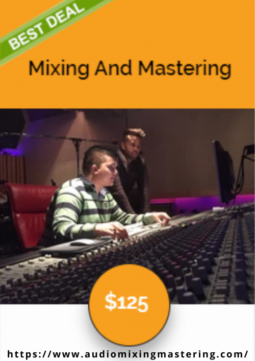 We are Professional online mixing & mastering service by Audio Mixing Mastering. Best Option! This is for when you have separate tracks (Drums, Bass, Vocals, Guitars, etc.) and you want us to mix them into a ready-to-release mastered Radio ready commercial song. Join our mailing list & Receive a 10% Off coupon code! https://www.audiomixingmastering.com/