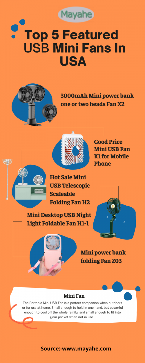 Top 5 Featured USB Mini Fans In USA