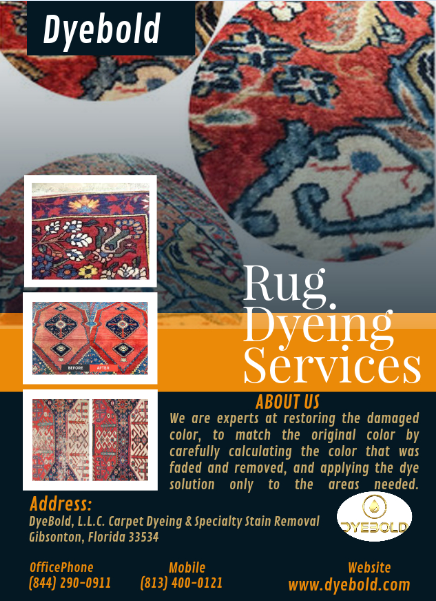 The Rug Dyeing Services Florida.