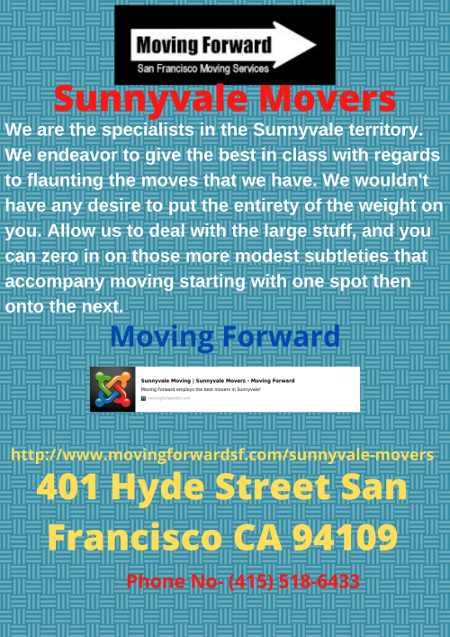Sunnyvale Movers moving forwaedsf
