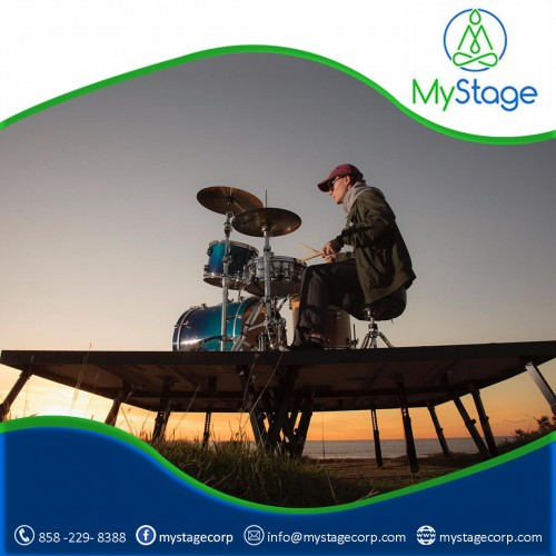 MyStage drum risers, globally accepted most convenient collapsible drum risers, are a boon for the drummers. These are designed to facilitate the professional drummers to create their drumming stage.  http://www.mystagecorp.com/