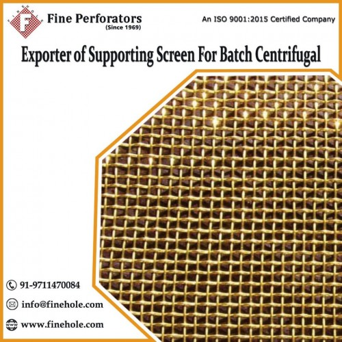 The conical wire perforation of supporting screens with high precision assures minimum clogging and maximum throughput. Fine Perforators manufactures and supplies premium quality filtration supporting screens at very competitive prices.