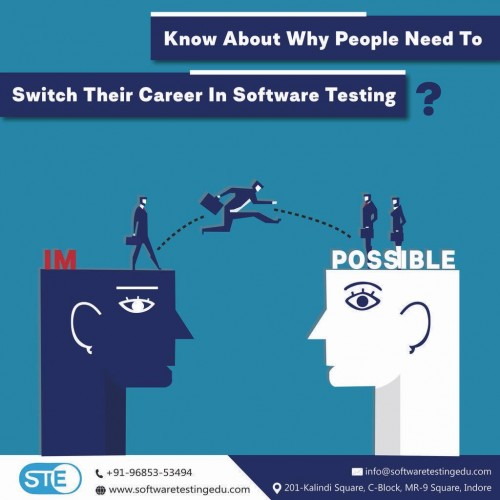 Software testing edu is the best software testing training institute in Indore that provides automation testing, manual testing, diploma in software testing with ISTQB certification courses. We are the best software testing training provider in Madhya Pradesh and provide software testing job oriented courses in Indore with 100% job guarantee.  Our students are placed in top IT companies with us. We provide interview preparation classes with personality development courses that help students to enhance their soft skills to face the interview.  We are the best automation testing institutes in Indore and provide complete software testing training with hands-on experience on the modules.  Anyone who is looking for the institute for software testing in Indore can reach us between 9-6 pm to get the details. Our professionals provide software testing course with 100% placement in Indore and other IT companies. We are recognized as the best automation testing training and placement institute in Indore.
