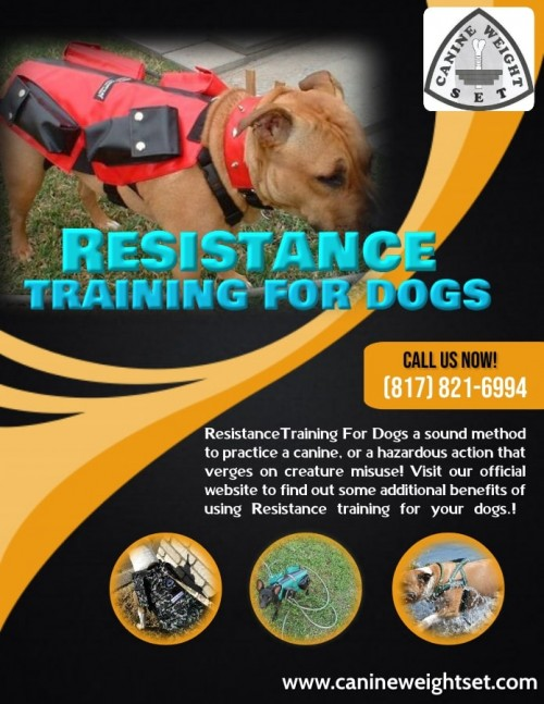 Resistance training for dogs a sound method to practice a canine, or a hazardous action that verges on creature misuse! Whichever way you cut it, weight-pulling is a Dog game that positively has individuals talking. Visit our official website to find out some additional benefits of using Resistance training for your dogs!  For more details visit: https://www.canineweightset.com/