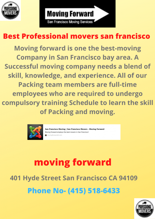 The Best Professional movers san francisco