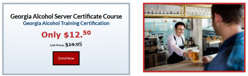 Our Georgia alcohol server certificate course certifies you to sell and serve alcoholic beverages responsibly. Since 1985, we have alcohol trained and certified tens of thousands individuals and businesses over the last 35 years. Read More: https://servingalcohol.com/georgia-alcohol-server-certificate-course/